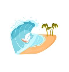 Ocean tsunami isolated icon vector