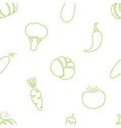 outline vegetable seamless pattern design vector image