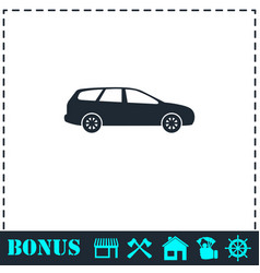 passenger car icon flat vector image