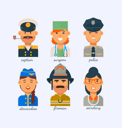 people different professions on a white vector image
