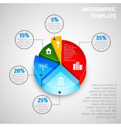 Pie chart real estate infographic vector image