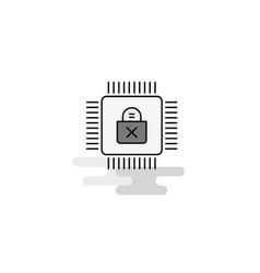 Processor web icon flat line filled gray icon vector