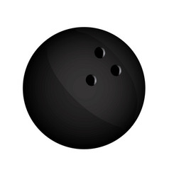 Realistic silhouette bowling ball icon sport vector