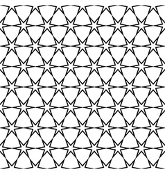 Repeating black and white star pattern vector image
