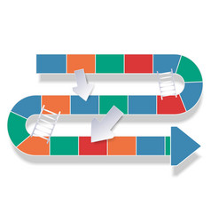 road variety colors in concept snake ladders vector image
