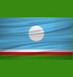Sakha republic flag flag of sakha republic vector