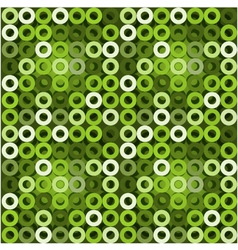 Seamless green background with circles EPS10 vector image