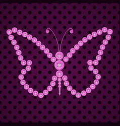 seamless watercolor butterfly pattern vector image