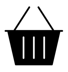 shopping basket silhouette icon 48x48 pictogram vector image