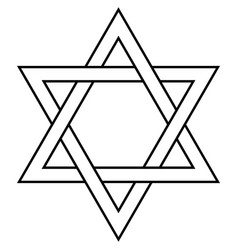 Star of david icon symbol israel judaism vector