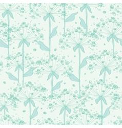 Summer line art dandelions seamless pattern vector