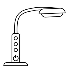 Table lamp with control panel icon outline style vector