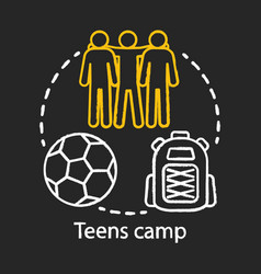 Teens camp chalk concept icon summer youngster vector
