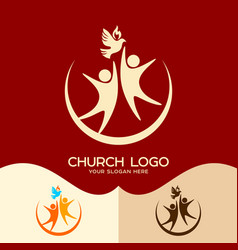 The holy spirit and people vector