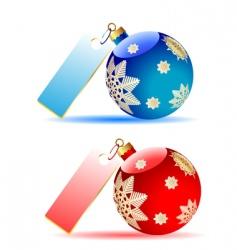 two balls vector image