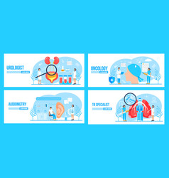 Urologistoncologist tb specialist audiometer vector
