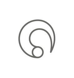 zen symbol icon spiritual concept vector image