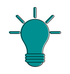 Lit lightbulb icon image vector