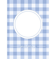 Retro blue vintage card or invitation with checker vector image vector image