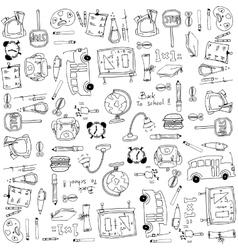 School education hand draw doodles vector image vector image