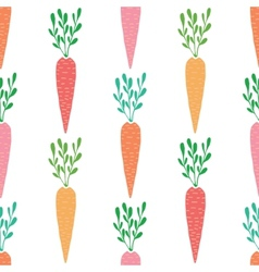 yummy carrots seamless pattern background vector image