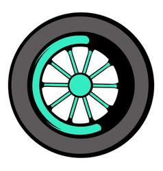 car wheel icon icon cartoon vector image