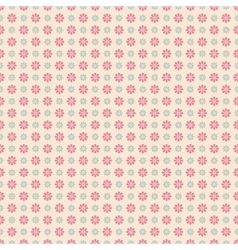 Floral seamless pattern with dots tiling vector image vector image