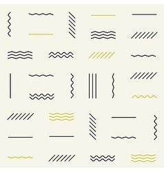 Geometric lines seamless pattern vector image vector image
