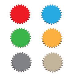 Starburst label on white background 6 starbursts vector