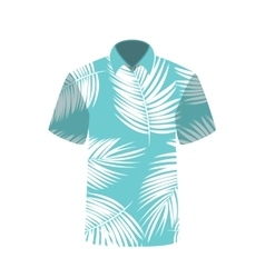 T-shirt with the image of palm trees vector image vector image