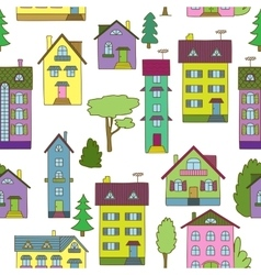 Background with colorful houses vector image vector image