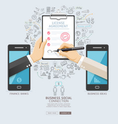 business social connection technology conceptual vector image vector image