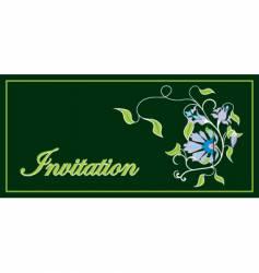 invitation floral frame vector image