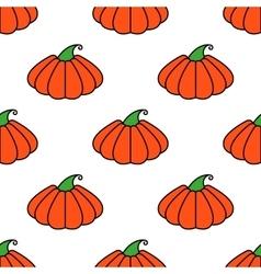 pattern orange pumpkin seamless texture for vector image vector image
