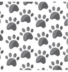 pet paw animal seamless pattern vector image vector image