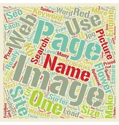 SEO For Images On Web Sites text background vector image vector image