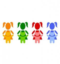 girl with teddy bear vector image vector image