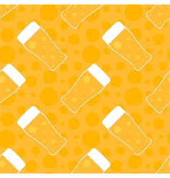 Oktoberfest seamless pattern background with beer vector image