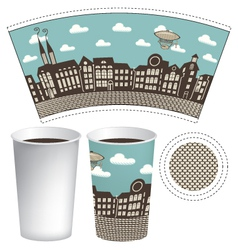 paper cup vector image vector image