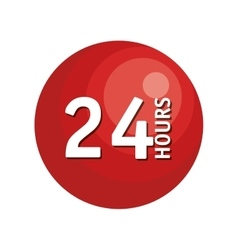 24 hours button icon vector