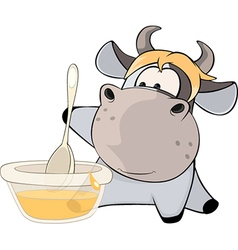A small cow Cartoon vector image
