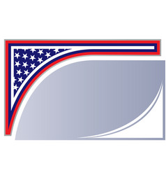 abstract american flag corner background vector image
