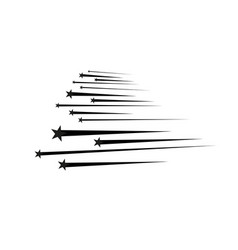 abstract falling star - black shooting star vector image