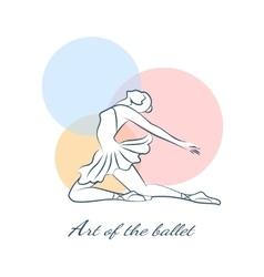 art ballet logo with ballerina vector image