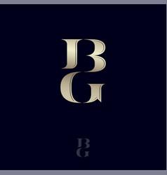 b g monogram logo combined letters emblem vector image