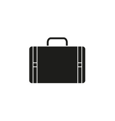 bag for travel black icon vector image