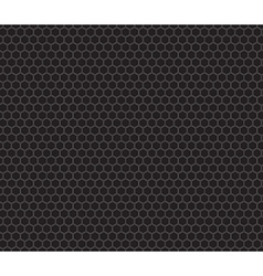 Black honeycomb seamless pattern vector image