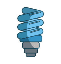 Blue save bulb energy icon vector
