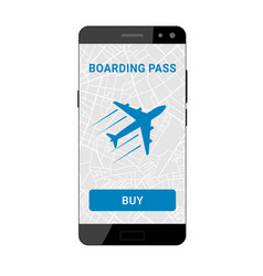 boarding pass on smartphone vector image