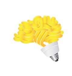 Brain Energy saving lightbulb vector